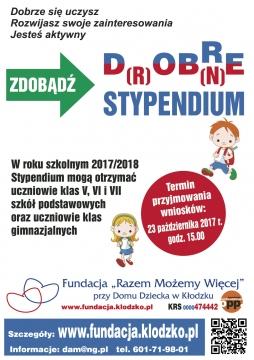 Plakat stypendium 2017