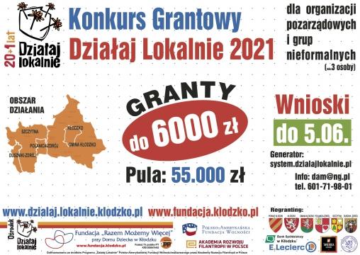 PLAKAT Dzialaj Lokalnie 2020
