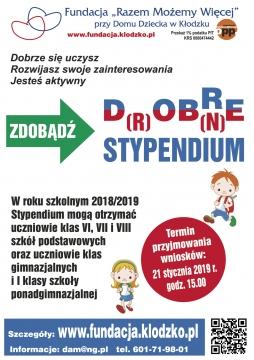 Plakat stypendium